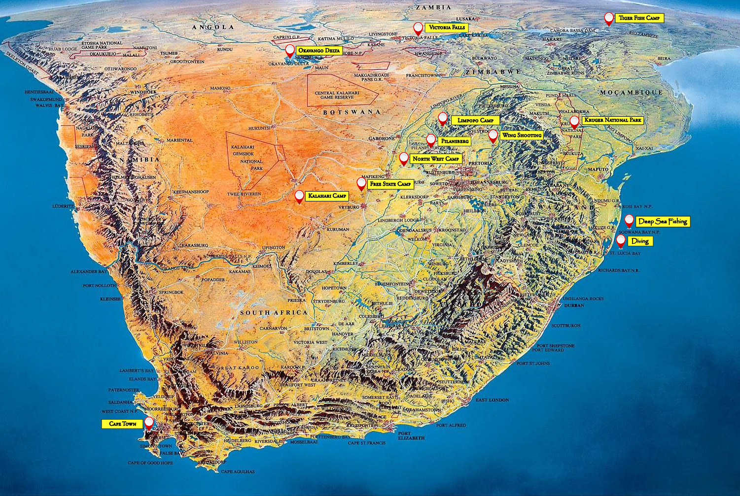 Map Southern Africa